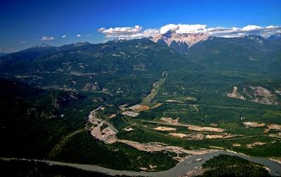 Junction of Squamish and Cheakamus rivers