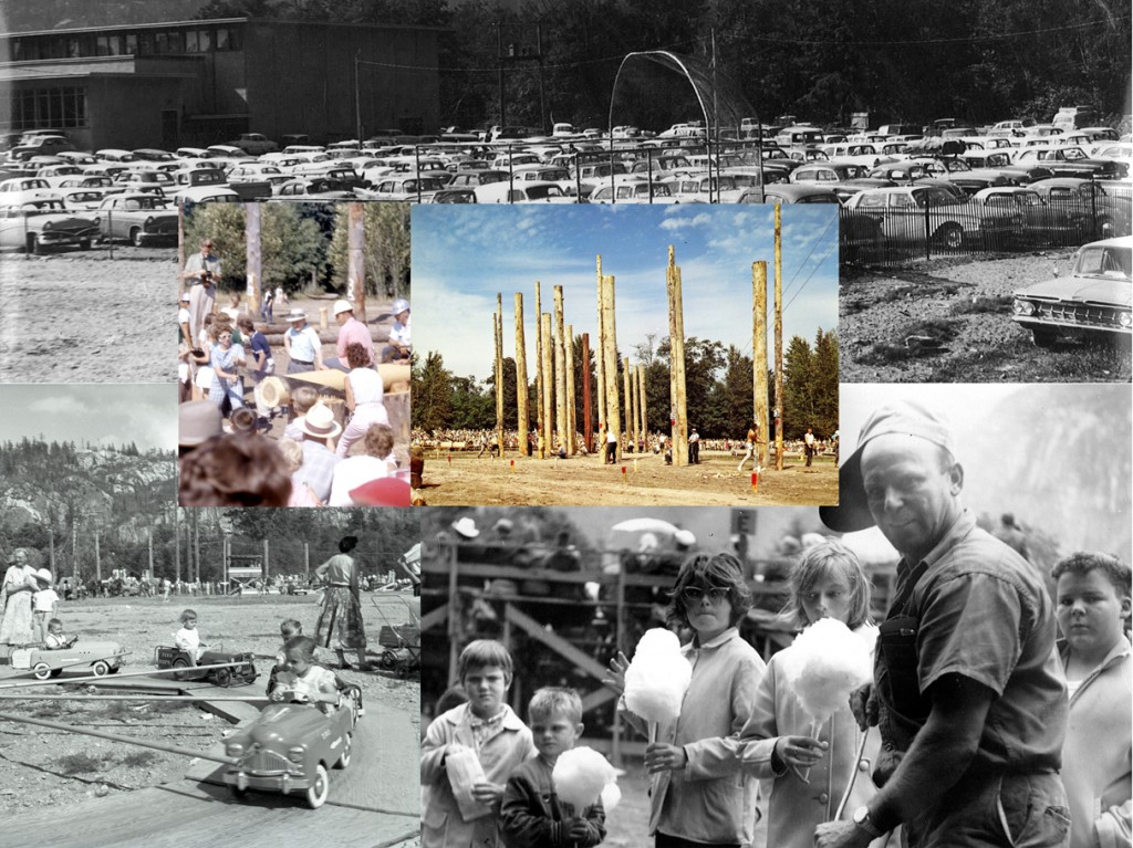 1960s Squamish Loggers' Sports Day collage