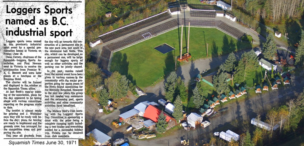 Loggers' Sports as official BC Industrial Sport + New arena