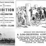 New Westminster log chopping contest 1893