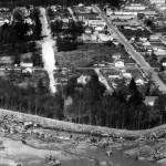 South dyke of Downtown Squamish area seen in 1966 photo was part of original Magee dyke system built by Chinese workers